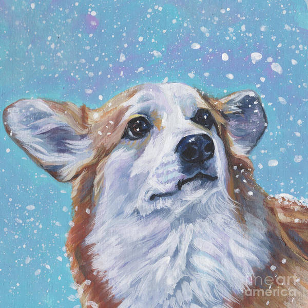 Wall Art - Painting - Pembroke Welsh Corgi by Lee Ann Shepard