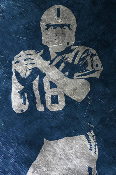 Game Painting - Peyton Manning Colts by Joe Hamilton