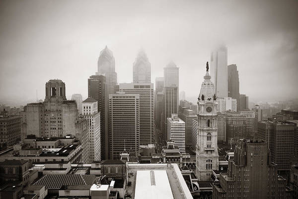 Photograph - Philadelphia City Rooftop by Songquan Deng