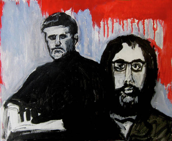 Wall Art - Painting - 2 Philosophers by James Gallagher