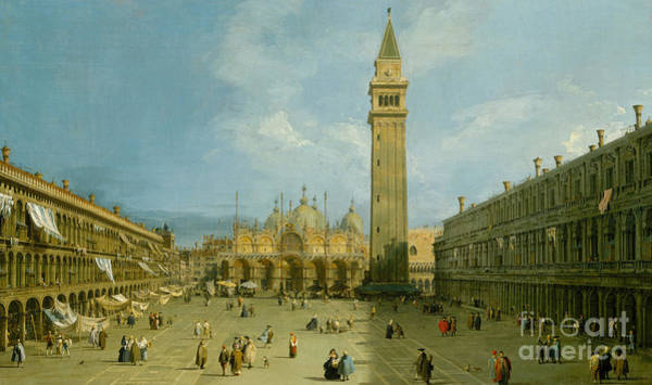 Wall Art - Painting - Piazza San Marco by Canaletto