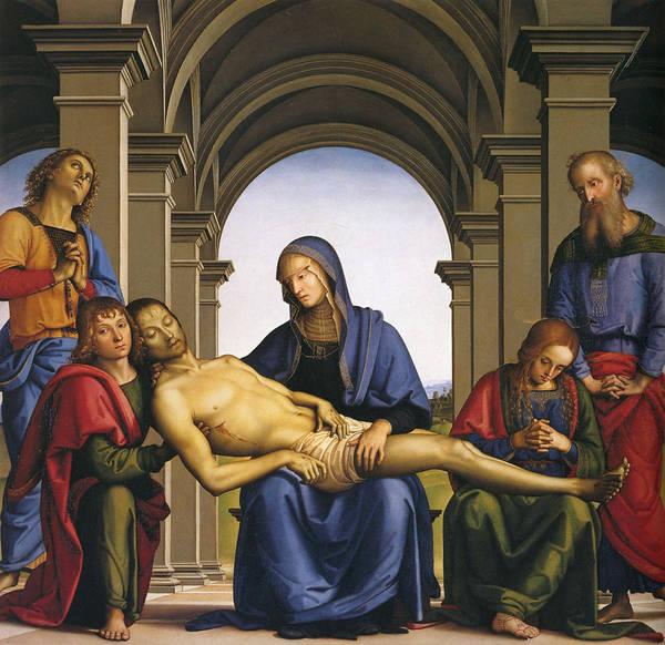 Redeemer Wall Art - Painting - Pieta by Pietro Perugino