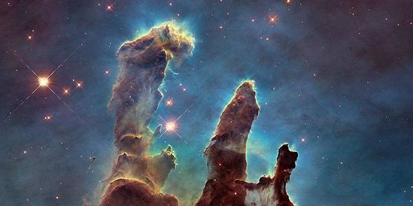 Star Cluster Painting - Pillars Of Creation by Celestial Images