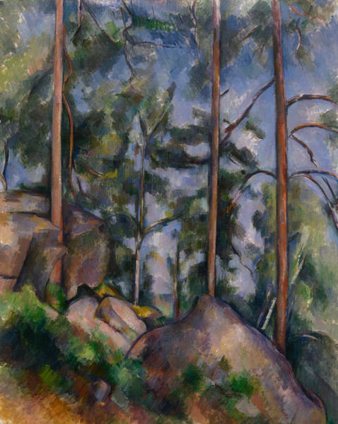 Cezanne Wall Art - Painting - Pines And Rocks by Paul Cezanne