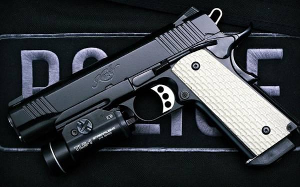 Handguns Photograph - Pistol by Mariel Mcmeeking