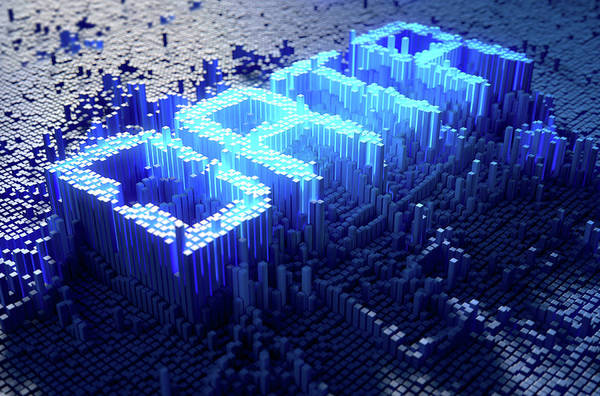 Detail Digital Art - Pixel Data Concept by Allan Swart