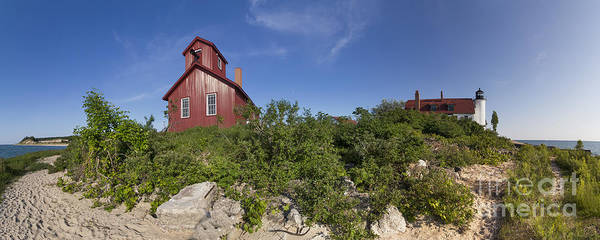 Coast Guard House Photograph - Point Betsie Life Saving Station by Twenty Two North Photography
