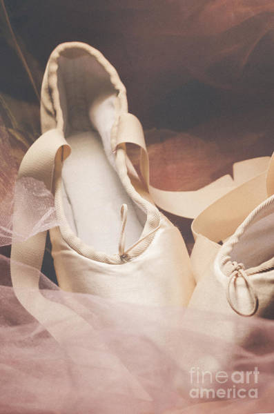 Wooden Shoe Photograph - Pointe Shoes by Jelena Jovanovic