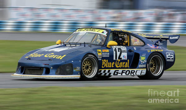 Autosport Wall Art - Photograph - Porsche 935 K3 Slant Nose Blue Coral by Tad Gage