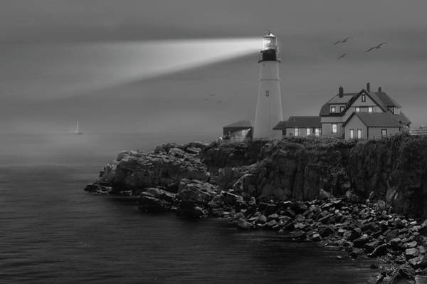 Portland Photograph - Portland Head Lighthouse by Mike McGlothlen