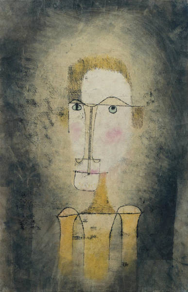 Drawing - Portrait Of A Yellow Man by Paul Klee