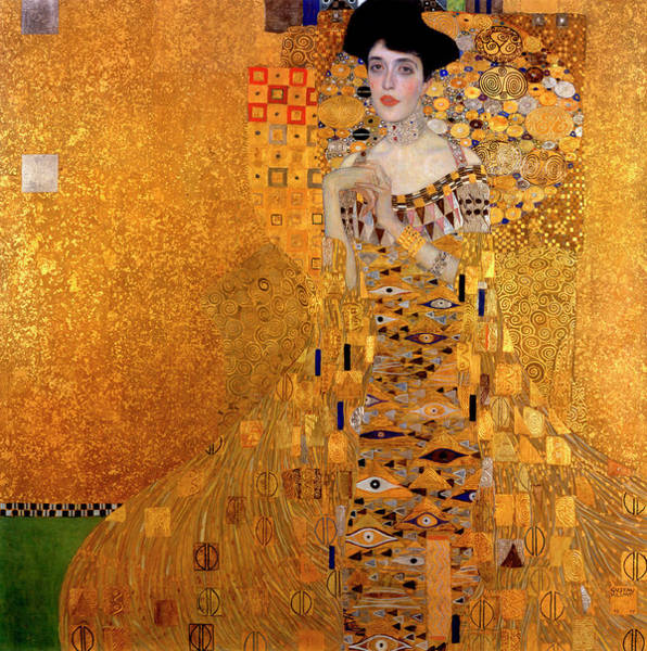 Wealth Painting - Portrait Of Adele Bloch-bauer by Gustav Klimt
