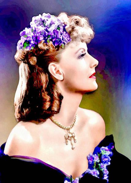 Digital Art - Portrait Of Greta Garbo by Charmaine Zoe