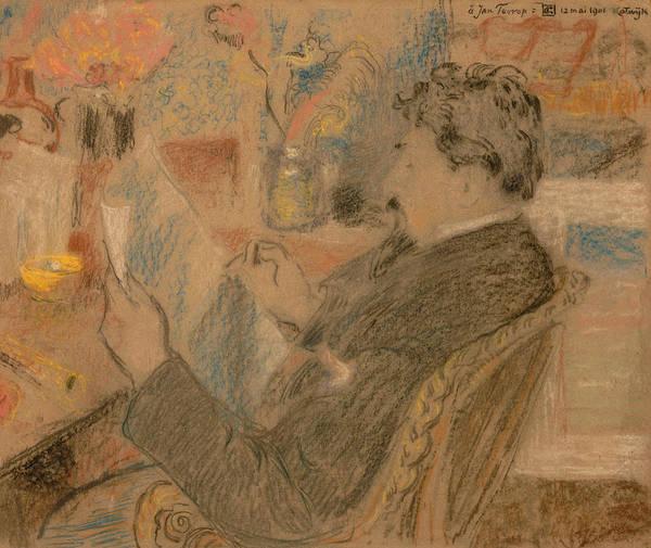 Pastel - Portrait Of Jan Toorop by Georges Lemmen