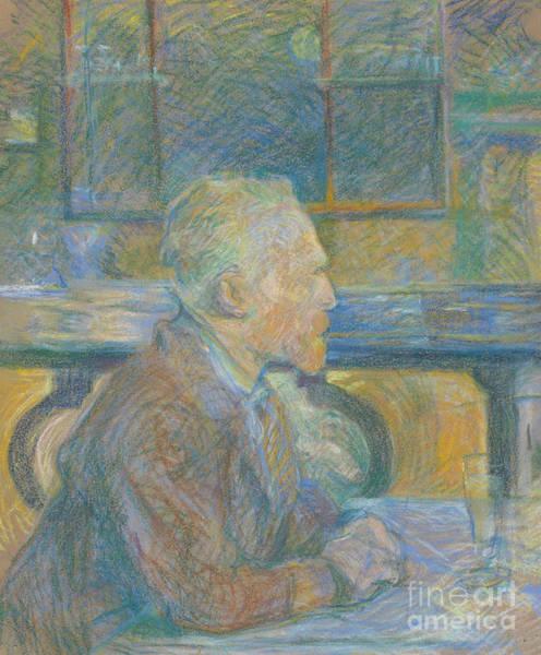 Wall Art - Pastel - Portrait Of Vincent Van Gogh by Henri de Toulouse-Lautrec