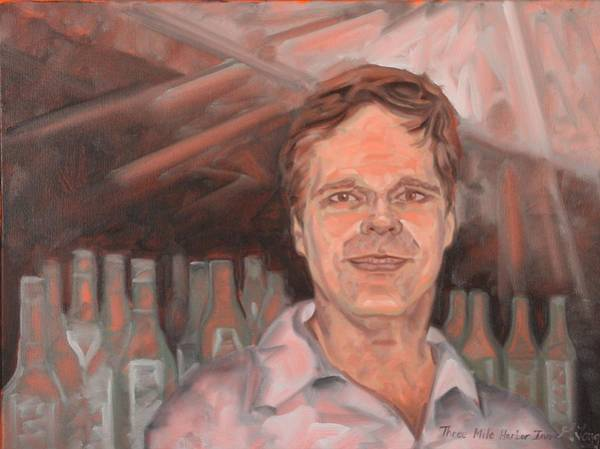 Painting - Bartender by Gary M Long