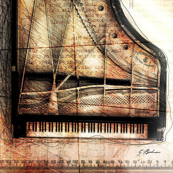 Grand Piano Digital Art - Prelude To Dawn C by Gary Bodnar