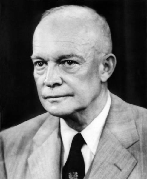 Wall Art - Photograph - President Dwight D. Eisenhower by Underwood Archives