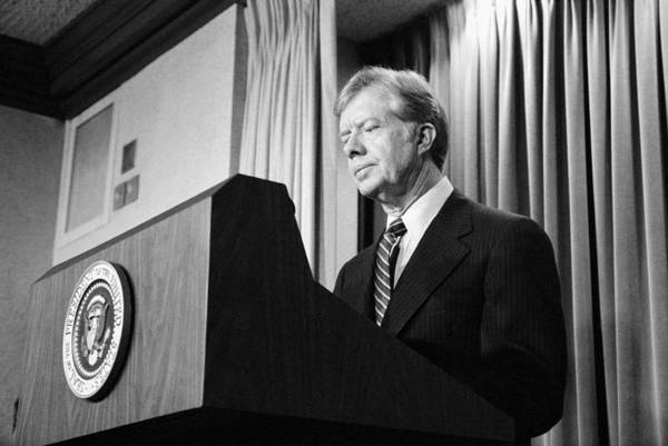 Democratic Party Photograph - President Jimmy Carter by War Is Hell Store