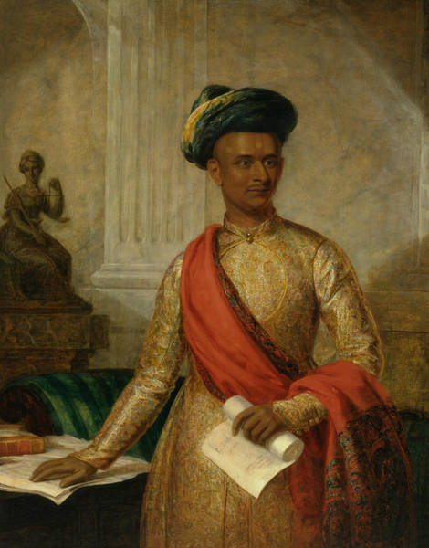 Painting - Purniya, Chief Minister Of Mysore by Thomas Hickey