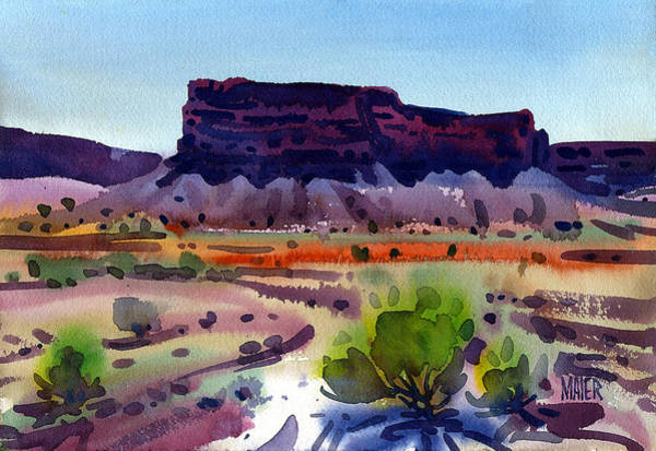 Purple Butte Art Print by Donald Maier
