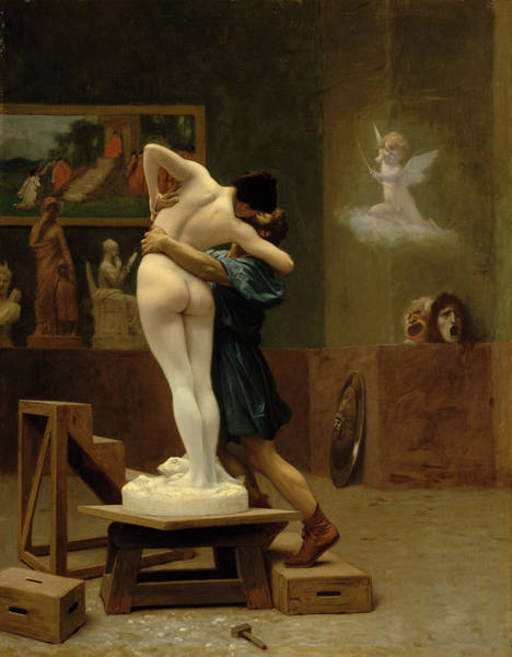 Goddess Of Love Wall Art - Painting - Pygmalion And Galatea by Jean-Leon Gerome