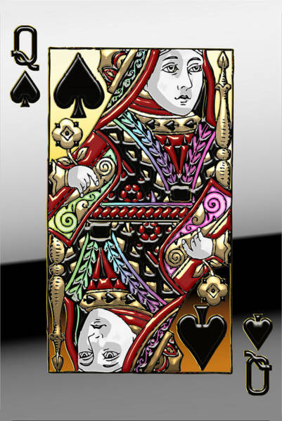 Queens Wall Art - Photograph - Queen Of Spades  by Serge Averbukh