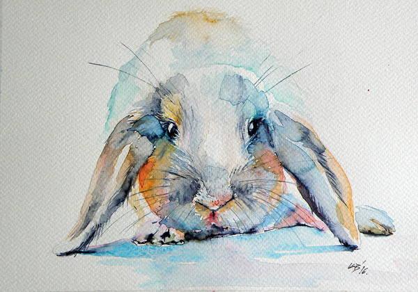 Wild Rabbit Painting - Rabbit by Kovacs Anna Brigitta
