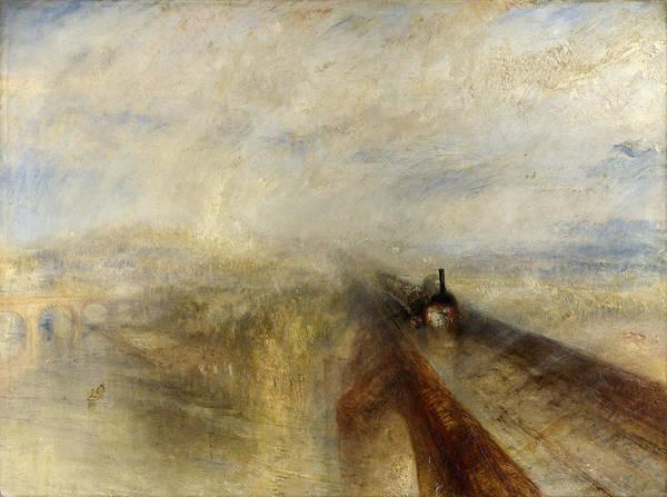 J. M. W. Turner Painting - Rain, Steam And Speed by JMW Turner