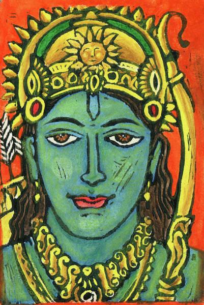 Sacred Mixed Media - Rama by Jennifer Mazzucco