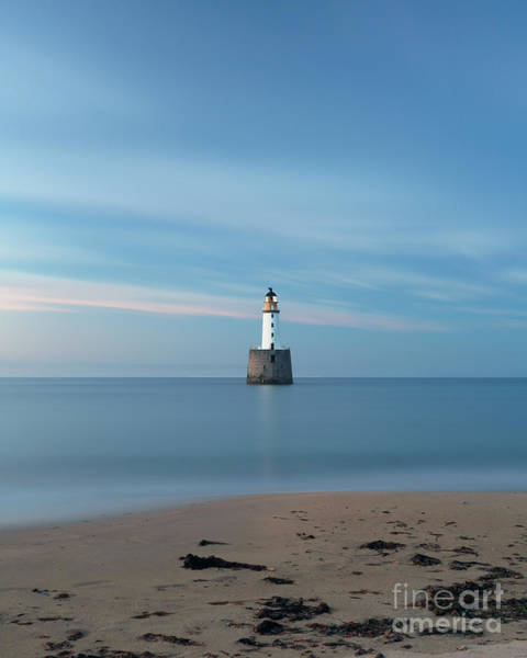 Photograph - Rattray Head Lighthouse At Sunset by Maria Gaellman