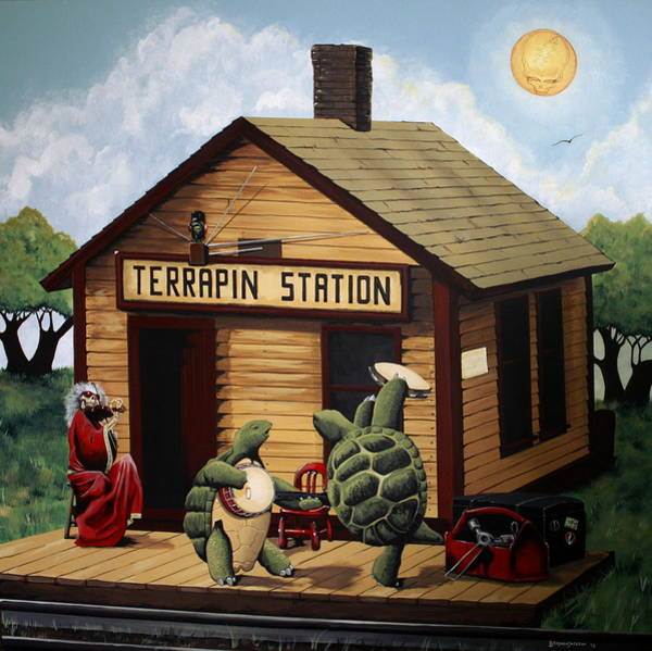 Power Station Wall Art - Painting - Recreation Of Terrapin Station Album Cover By The Grateful Dead by Ben Jackson