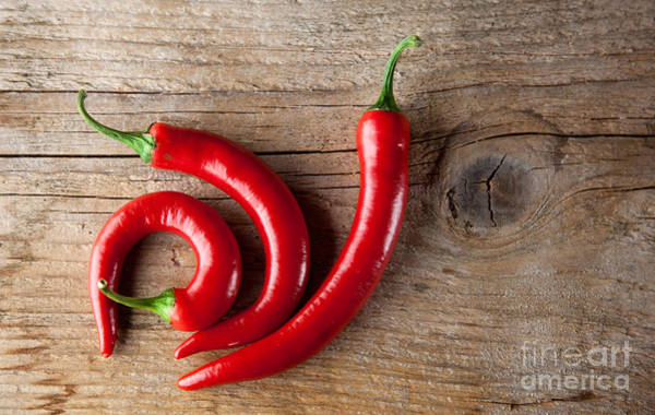 Ripe Photograph - Red Chili Pepper by Nailia Schwarz