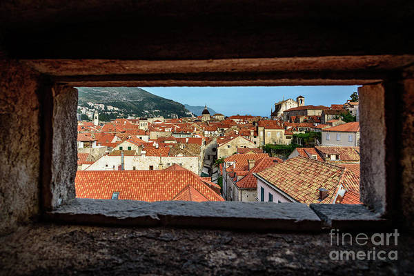 Photograph - Red Roofs Of Dubrovnik, Kings Landing In Game Of Thrones, Through The City Walls, Dubrovnik, Croatia by Global Light Photography - Nicole Leffer