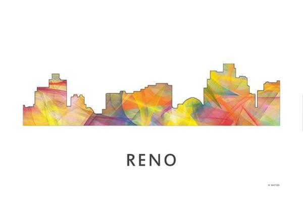 Nv Digital Art - Reno Nevada Skyline by Marlene Watson