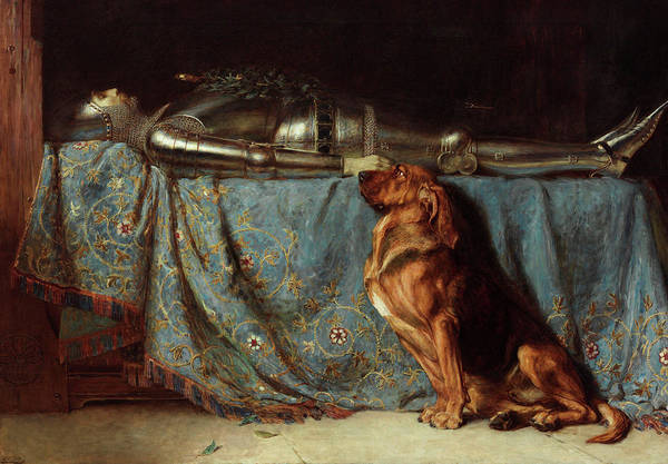 Briton Wall Art - Painting - Requiescat by Briton Riviere