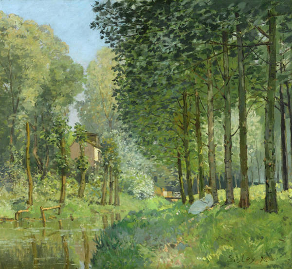 Rural Life Wall Art - Painting - Rest Along The Stream by Alfred Sisley
