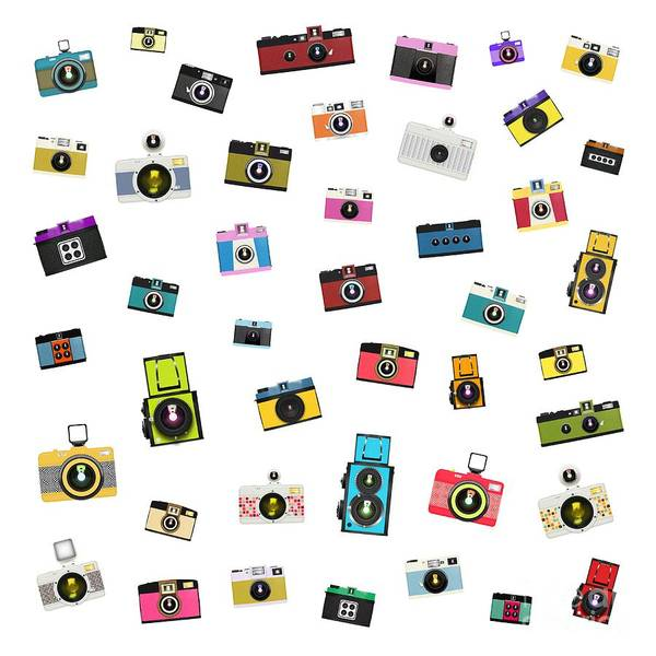 Wall Art - Painting - Retro Camera by Setsiri Silapasuwanchai