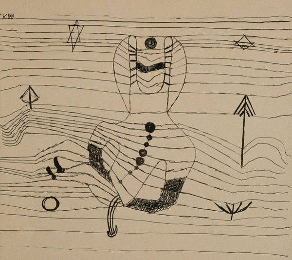 Drawing - Rider Unhorsed And Bewitched by Paul Klee