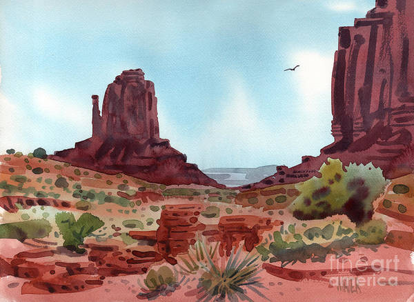 Monuments Painting - Right Mitten by Donald Maier