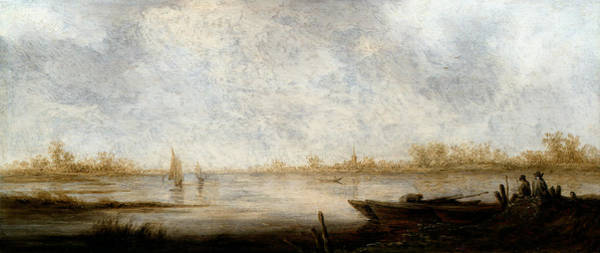 Cuyp Wall Art - Painting - River Landscape by Aelbert Cuyp