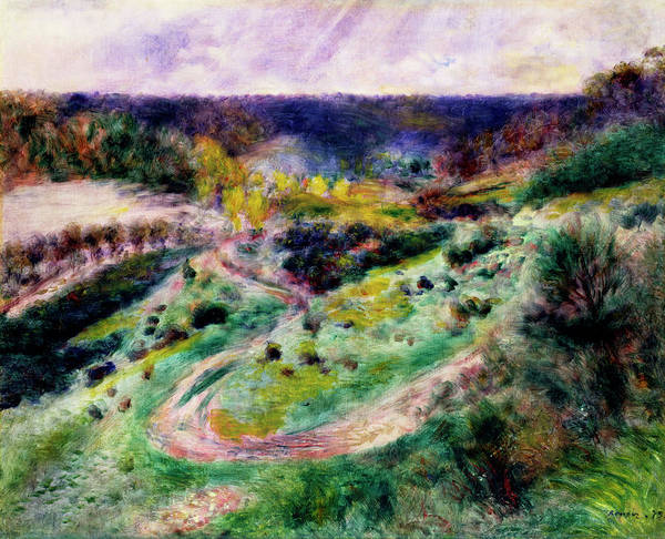 Mother Road Wall Art - Painting - Road At Wargemont by Pierre-Auguste Renoir