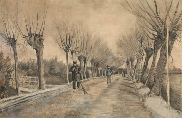 Drawing - Road In Etten by Vincent van Gogh