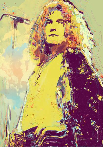 Wall Art - Digital Art - Robert Plant by Elena Kosvincheva