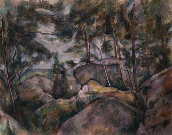 Painting - Rocks In The Forest by Paul Cezanne