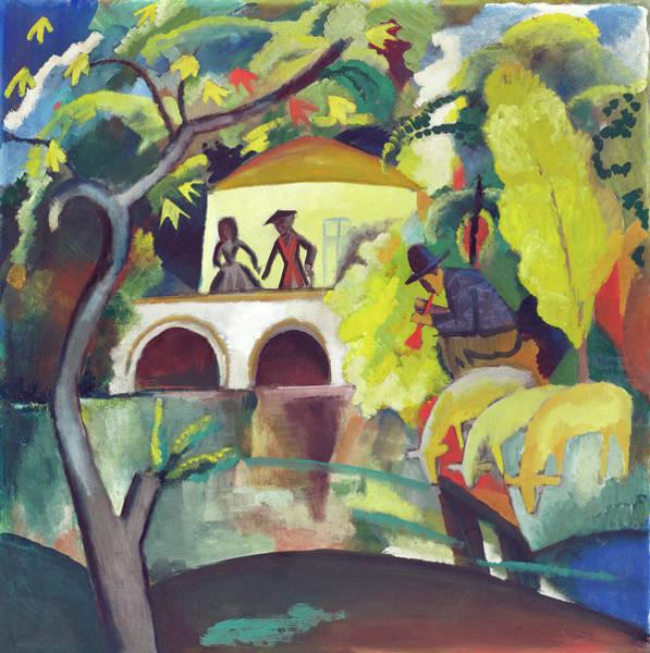 Painting - Rokoko by August Macke