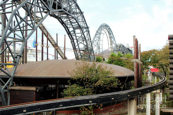 Photograph - Roller Coaster Art by Doc Braham
