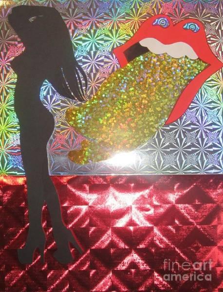 Wall Art - Mixed Media - Rolling Stones Logo by Jeepee Aero