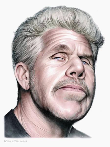Beast Drawing - Ron Perlman by Greg Joens