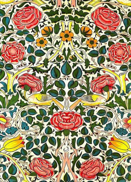 Wall Art - Painting - Rose Design by William Morris